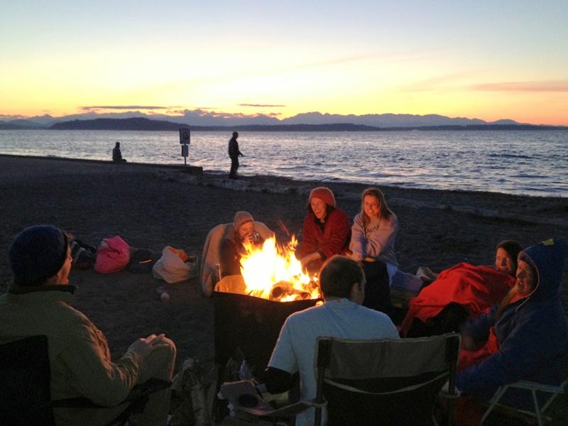 Alki evening beachfire